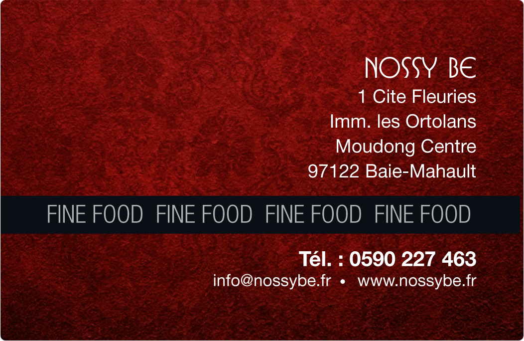 Carte Fidelité NOSSY BE FINE FOOD